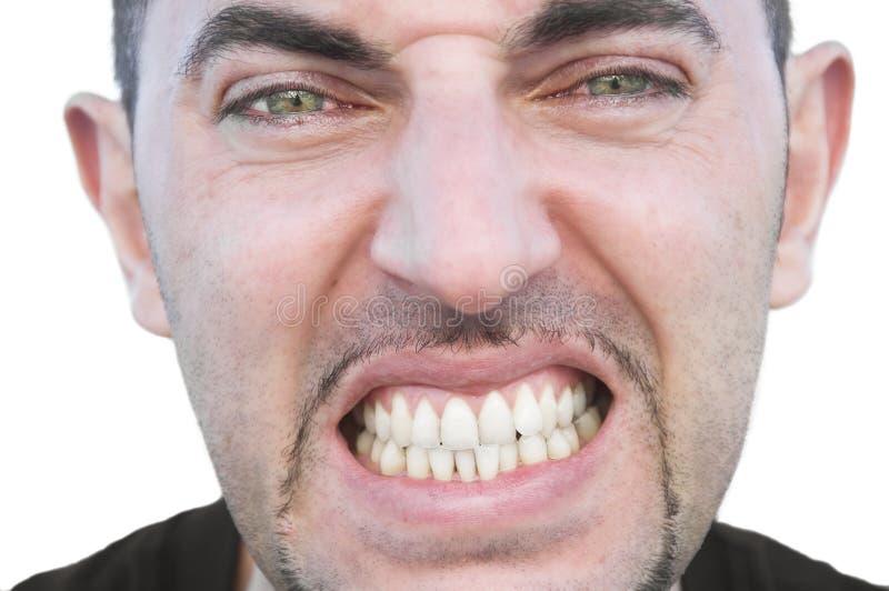 Hombre joven enojado. fotografía de archivo