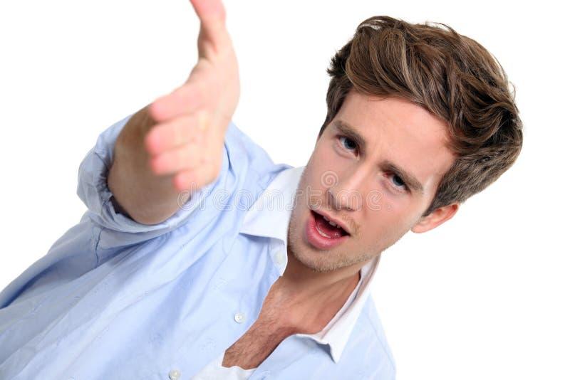 Hombre joven enojado fotos de archivo
