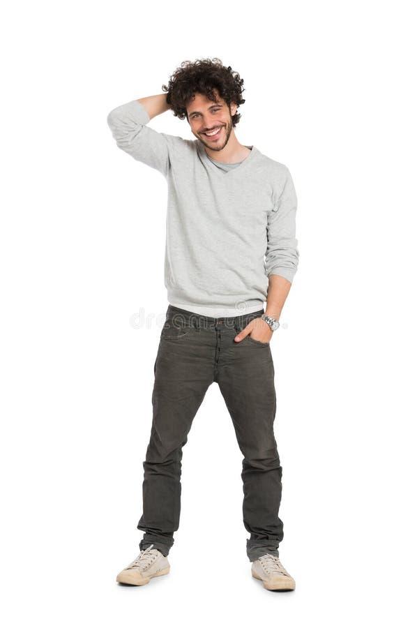 Hombre joven feliz foto de archivo