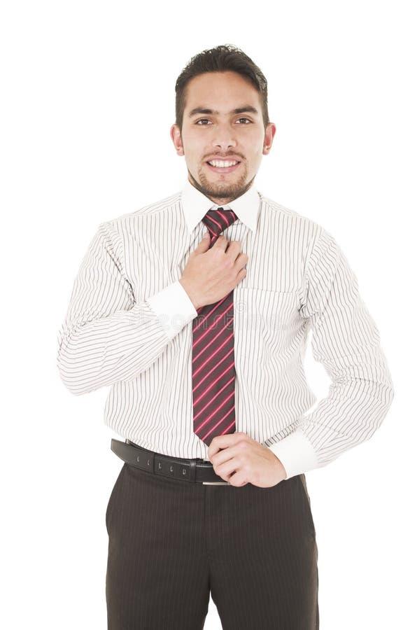 Hombre joven hermoso en ropa formal fotografía de archivo