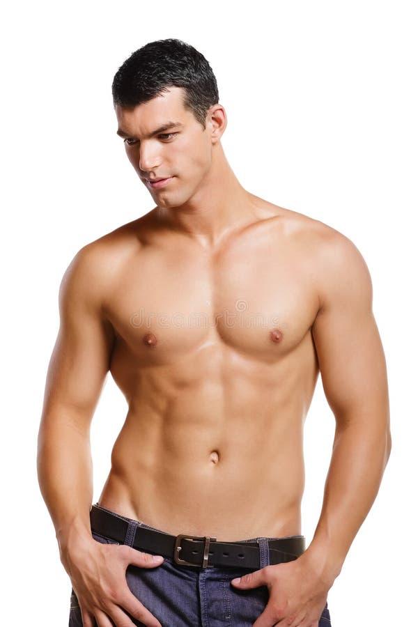 Hombre joven muscular sano imágenes de archivo libres de regalías