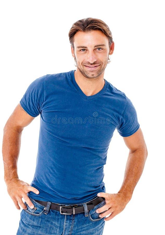 Hombre joven sonriente imagen de archivo libre de regalías