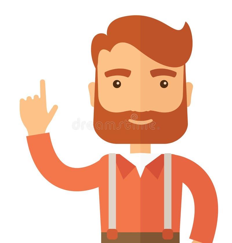 Hombre joven y acertado stock de ilustración