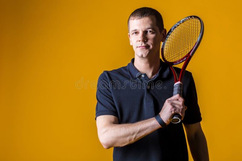 Hombre, jugador de tenis fotos de archivo