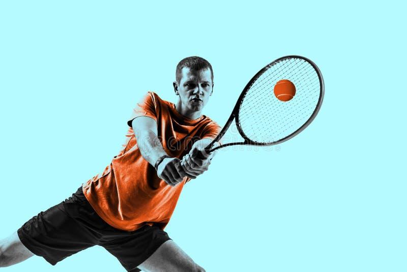 Hombre, jugador de tenis foto de archivo