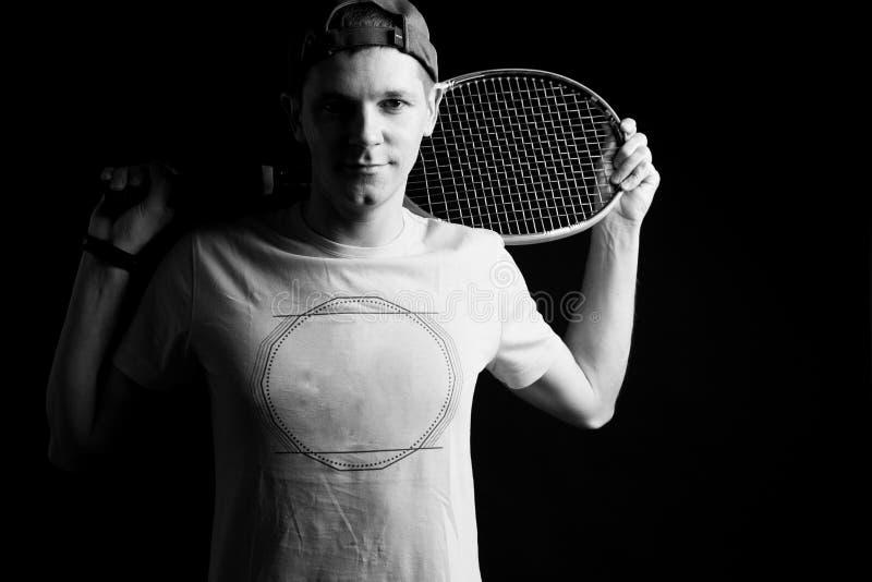 Hombre, jugador de tenis imagen de archivo