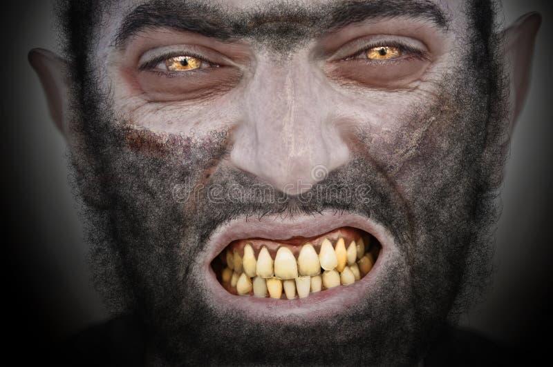 Hombre lobo. imagen de archivo