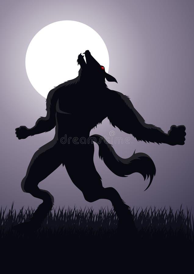 Hombre lobo stock de ilustración