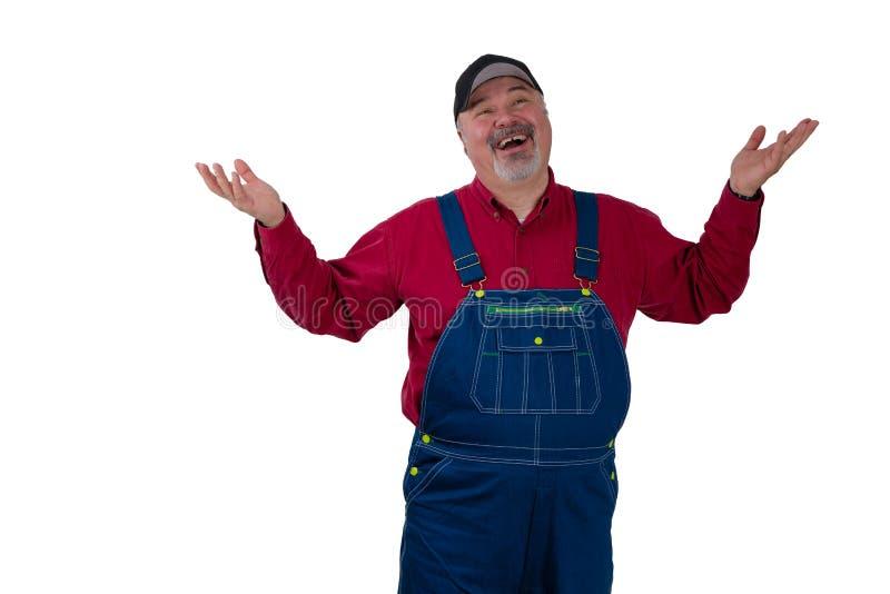 Hombre magnánimo de gran corazón de risa foto de archivo libre de regalías