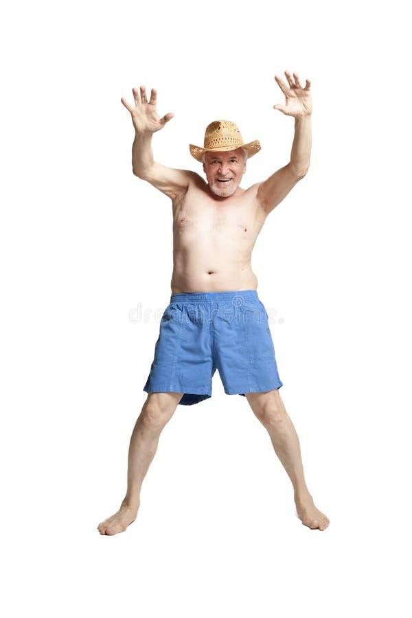 Hombre mayor activo feliz fotografía de archivo libre de regalías