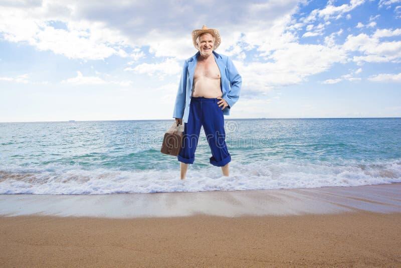 Hombre mayor activo feliz fotos de archivo libres de regalías