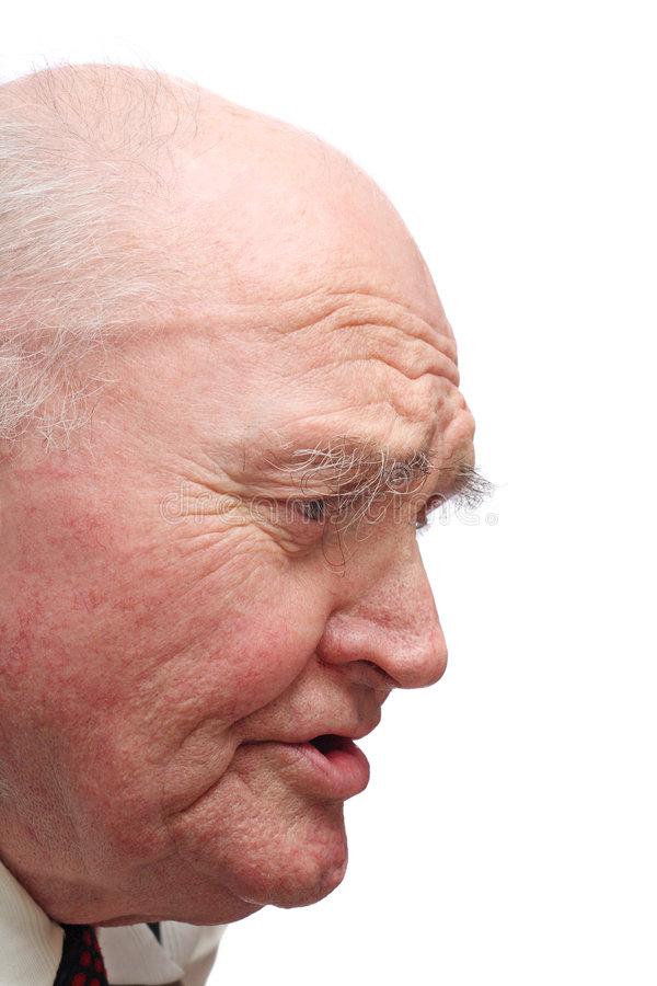 Hombre mayor calvo fotos de archivo libres de regalías