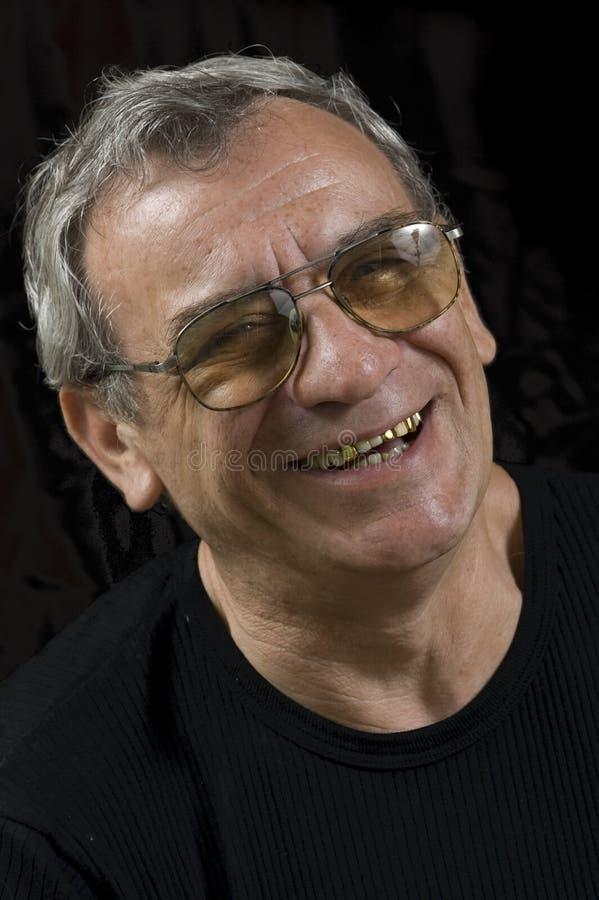 Hombre mayor de risa foto de archivo libre de regalías