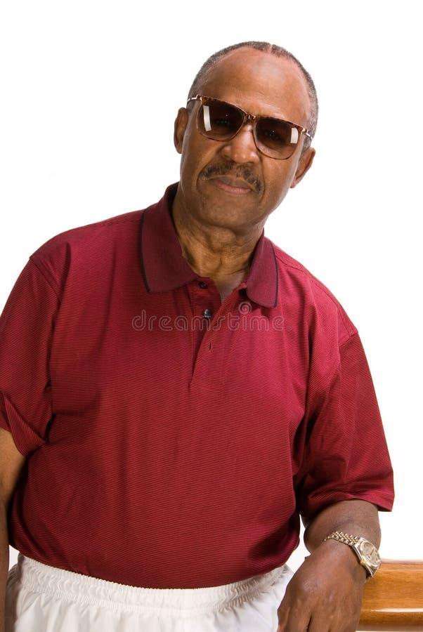 Hombre mayor del afroamericano. foto de archivo libre de regalías