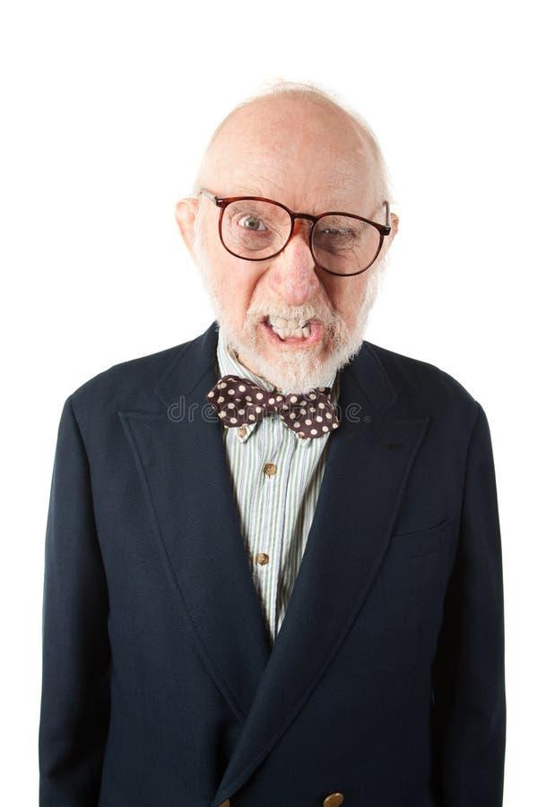 Hombre mayor desagradable fotografía de archivo