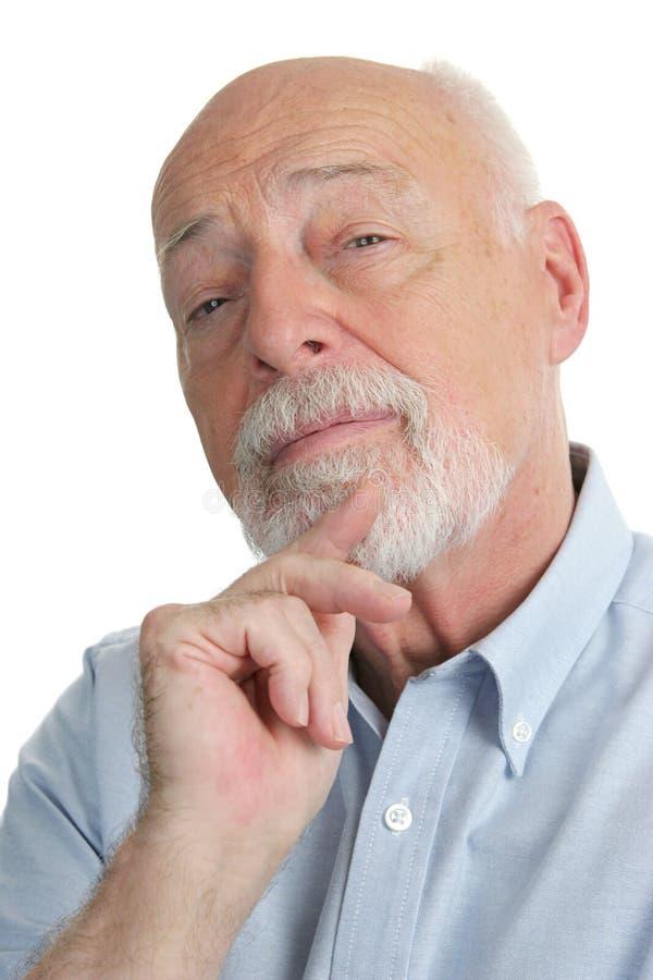 Hombre mayor - escéptico fotos de archivo libres de regalías