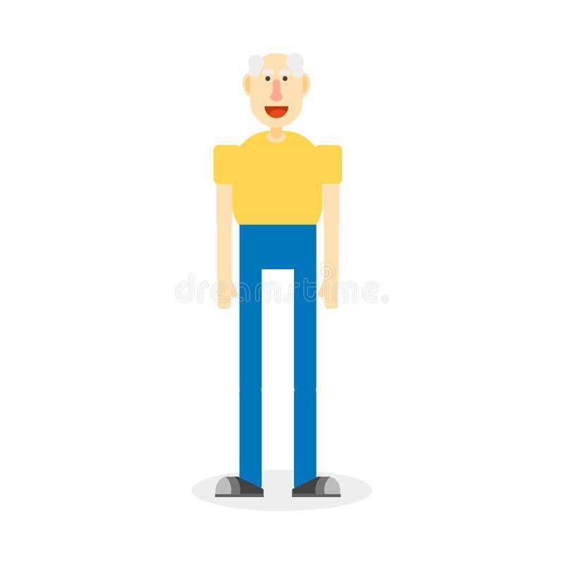 Download Hombre mayor ilustrado ilustración del vector. Ilustración de balding - 100528233