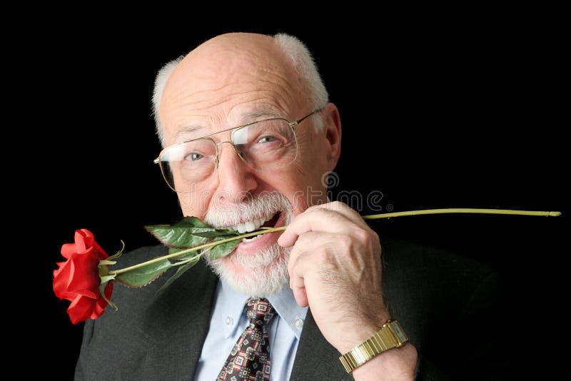 Hombre mayor Romeo imagen de archivo libre de regalías