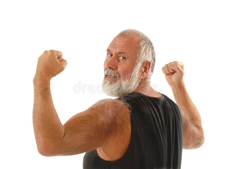 Hombre mayor sano fotos de archivo