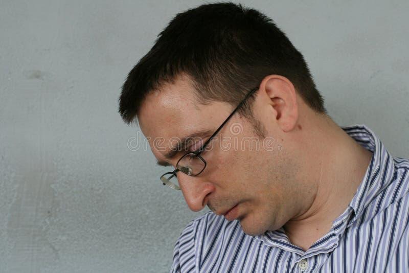 Hombre melancólico foto de archivo libre de regalías