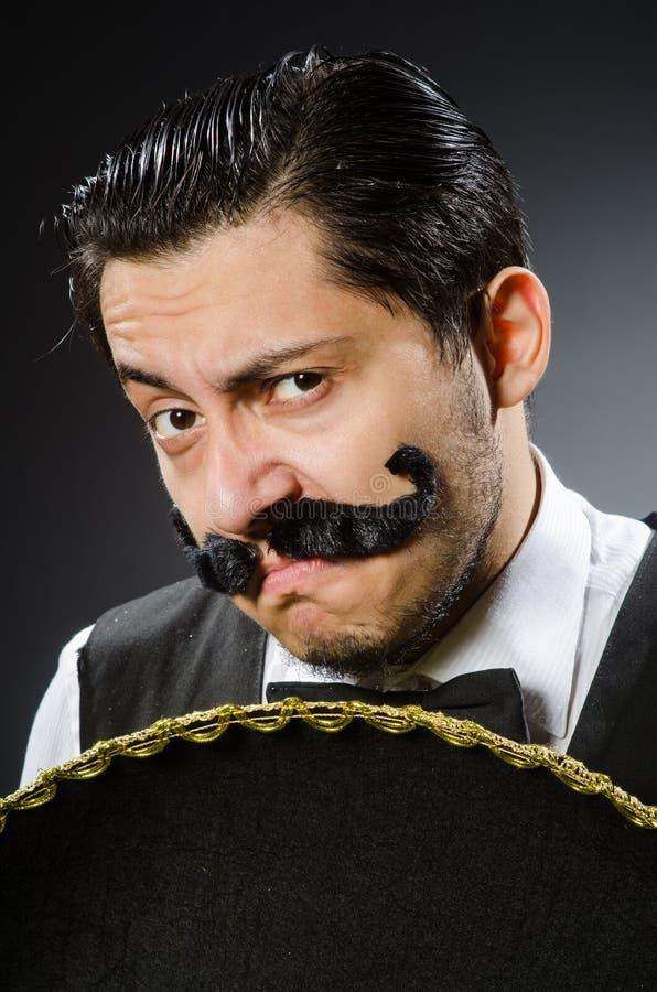 Download Hombre Mexicano En Divertido Foto de archivo - Imagen de cara, poncho: 41914214