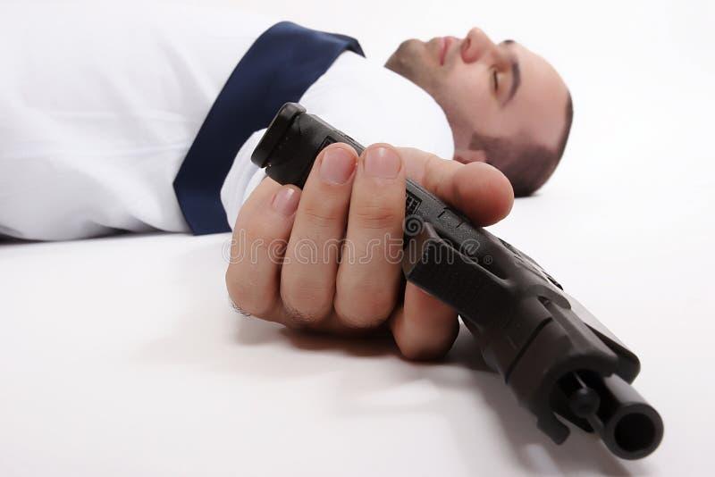 Hombre muerto fotografía de archivo