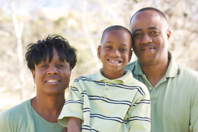 Hombre, mujer y niño foto de archivo libre de regalías