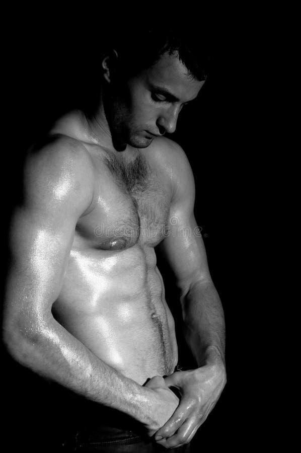 Hombre muscular de moda fotografía de archivo libre de regalías