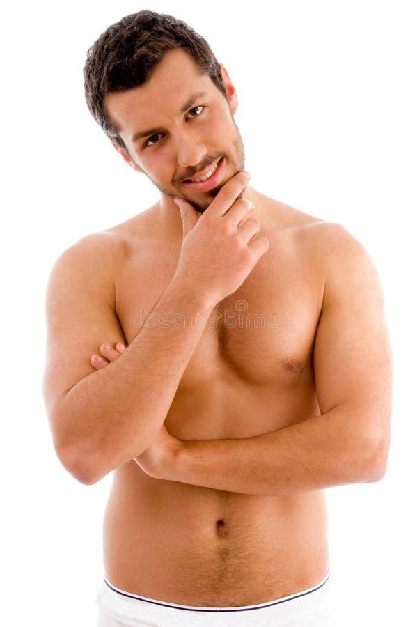 Hombre muscular derecho imágenes de archivo libres de regalías
