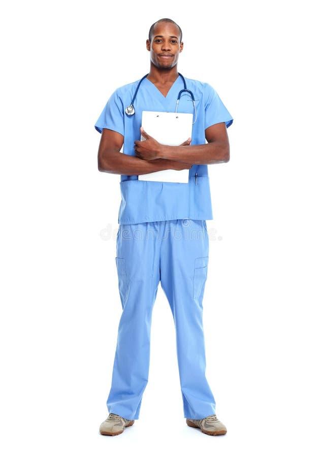 Hombre negro afroamericano del doctor imágenes de archivo libres de regalías