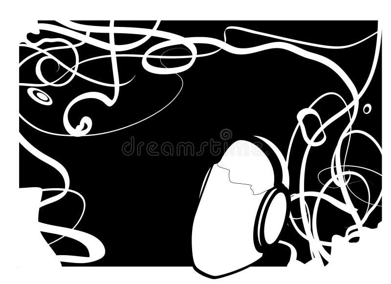 Hombre negro de la música imagen de archivo