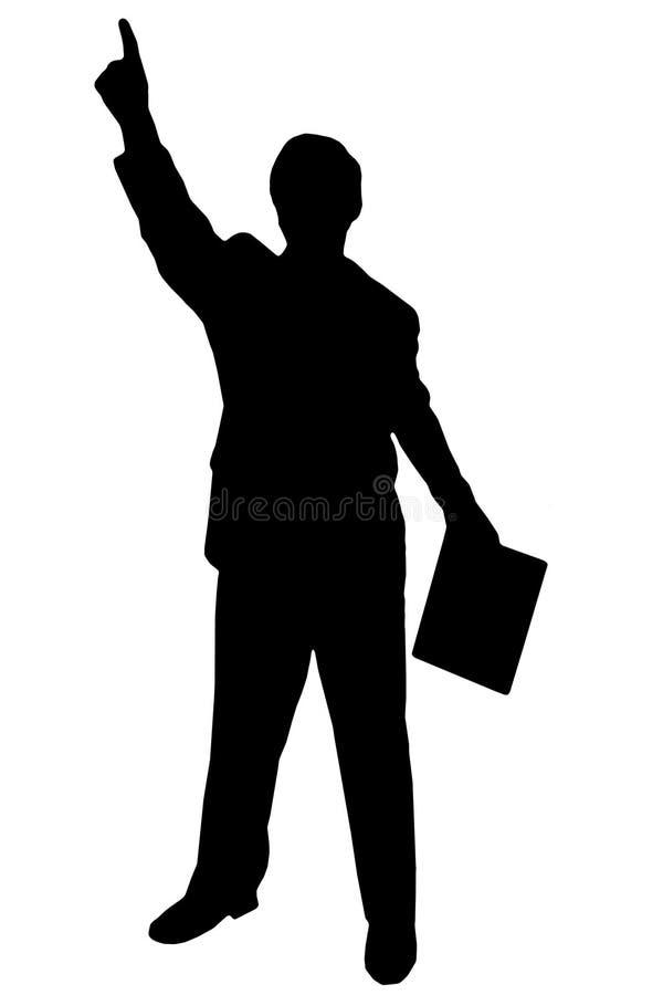 Hombre negro de la silueta en blanco imágenes de archivo libres de regalías
