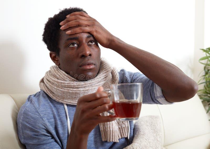 Hombre negro enfermo imágenes de archivo libres de regalías