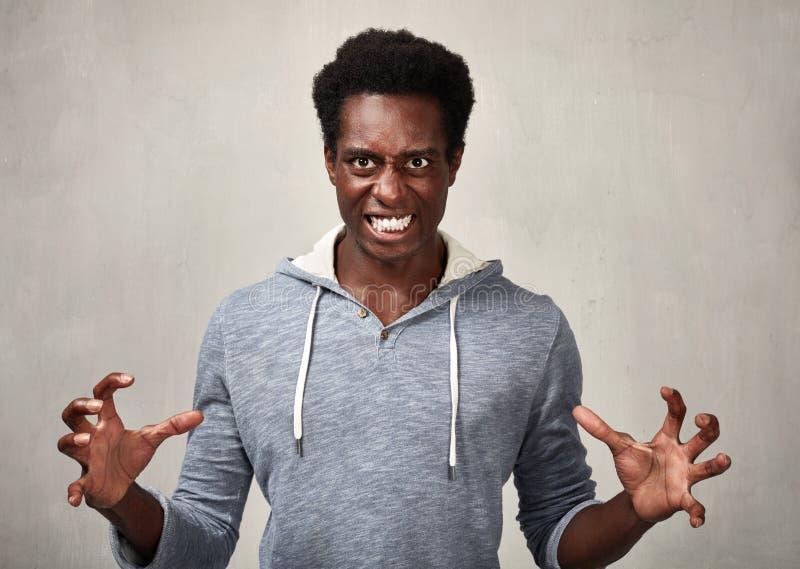 Hombre negro enojado imágenes de archivo libres de regalías