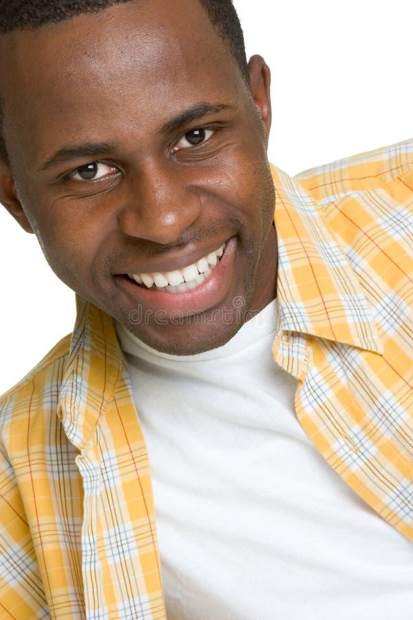Hombre negro feliz foto de archivo