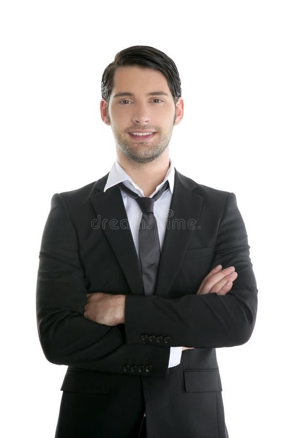 Hombre negro joven elegante de moda del juego de la manera foto de archivo