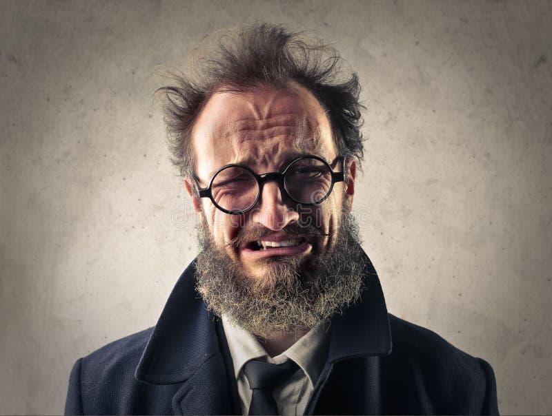 Hombre ocasional con una cara gritadora fotos de archivo libres de regalías