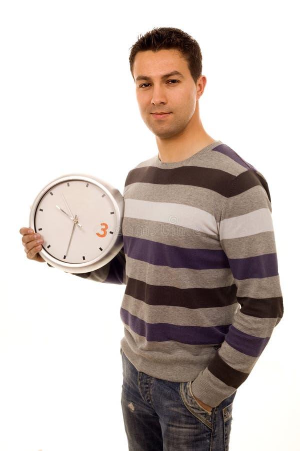 Hombre ocasional del reloj imagen de archivo libre de regalías