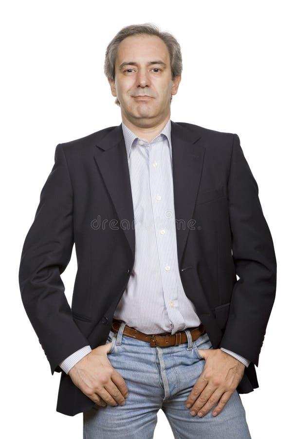 Hombre ocasional feliz fotografía de archivo libre de regalías