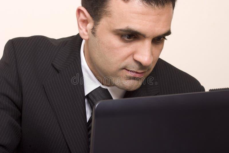 Hombre ocupado. fotografía de archivo