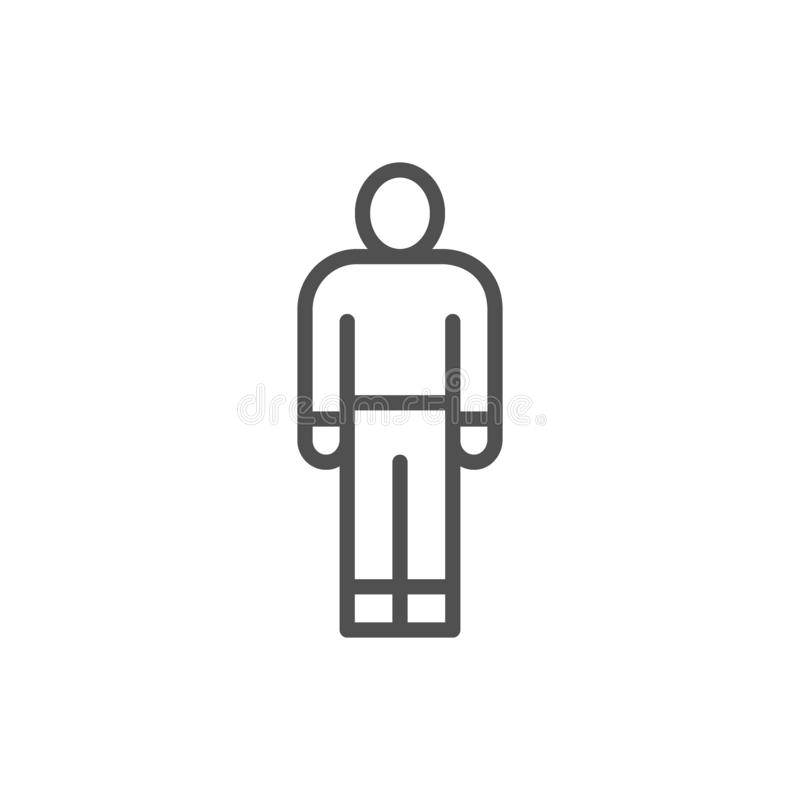 Hombre, persona, ser humano, empleado, l?nea icono del trabajador libre illustration