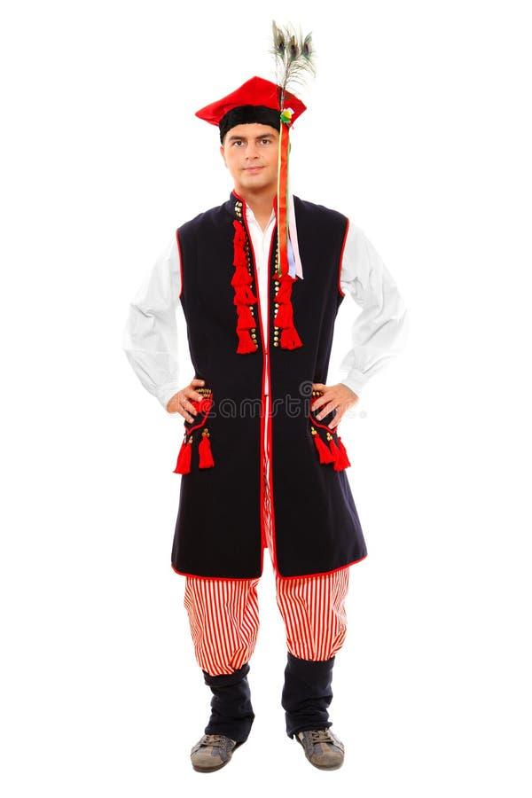 Hombre polaco en un equipo tradicional imagen de archivo libre de regalías