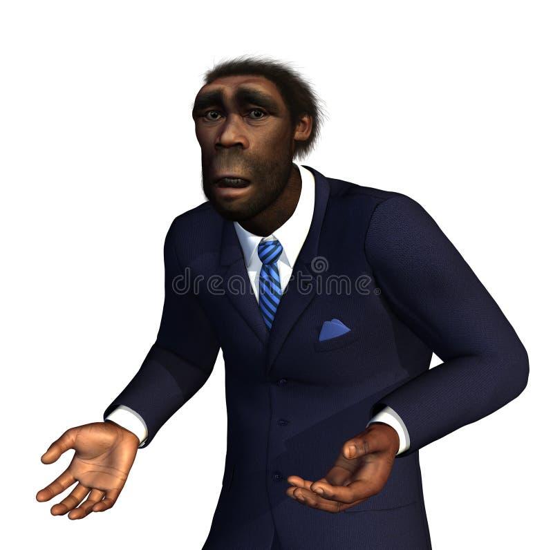 Hombre prehistórico perdido a tiempo libre illustration