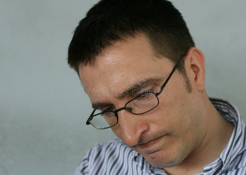 Hombre preocupado fotografía de archivo