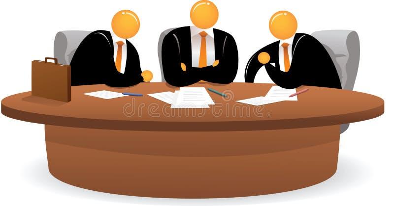 Hombre principal anaranjado en la reunión libre illustration