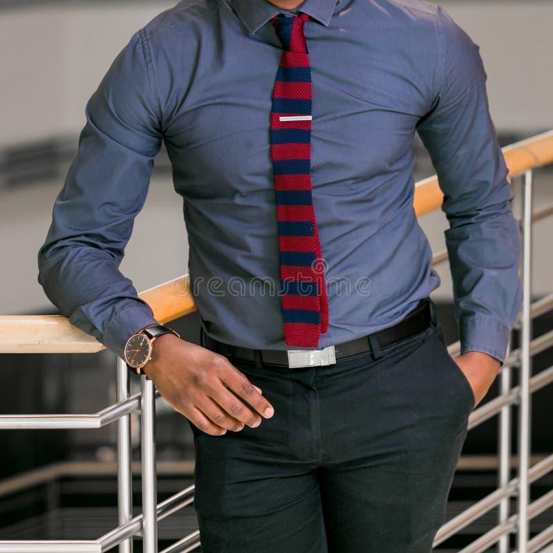 Hombre Principal Cosechado En Una Camisa De Vestir Y Un Lazo