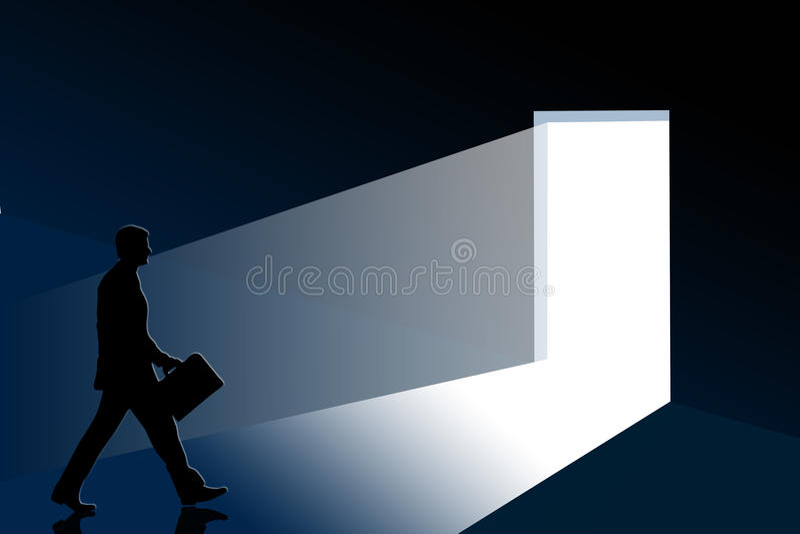 Hombre que camina stock de ilustración
