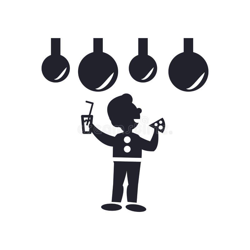 Hombre que celebra la muestra y el símbolo del vector del icono aislados en el fondo blanco, hombre que celebra concepto del logo libre illustration