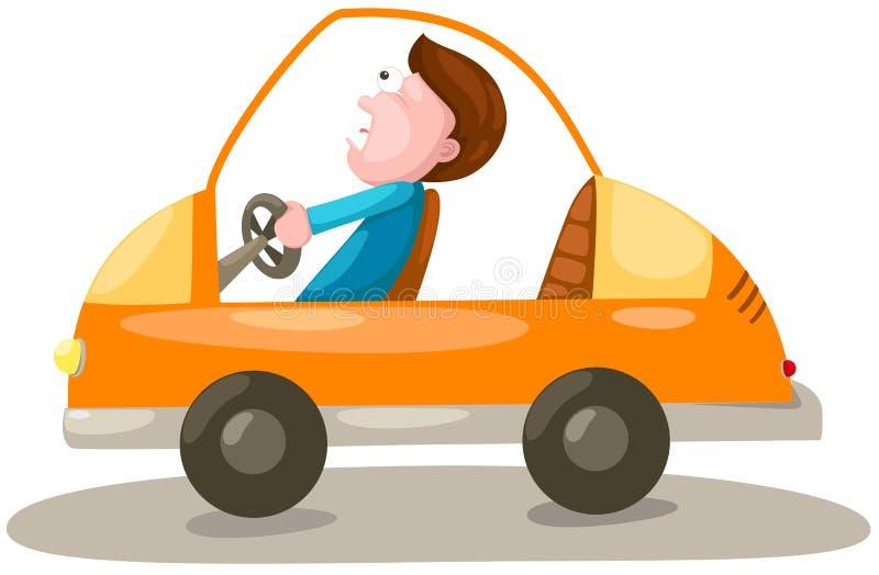 Hombre que conduce un coche libre illustration