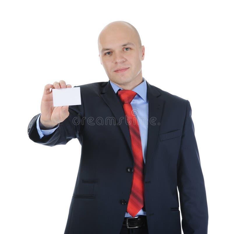 Hombre que da un espacio en blanco fotografía de archivo libre de regalías